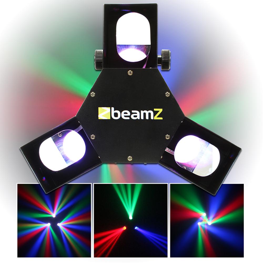 2x Beamz Led Dmx Triple Flex Scanner Lights Dj Disco Party
