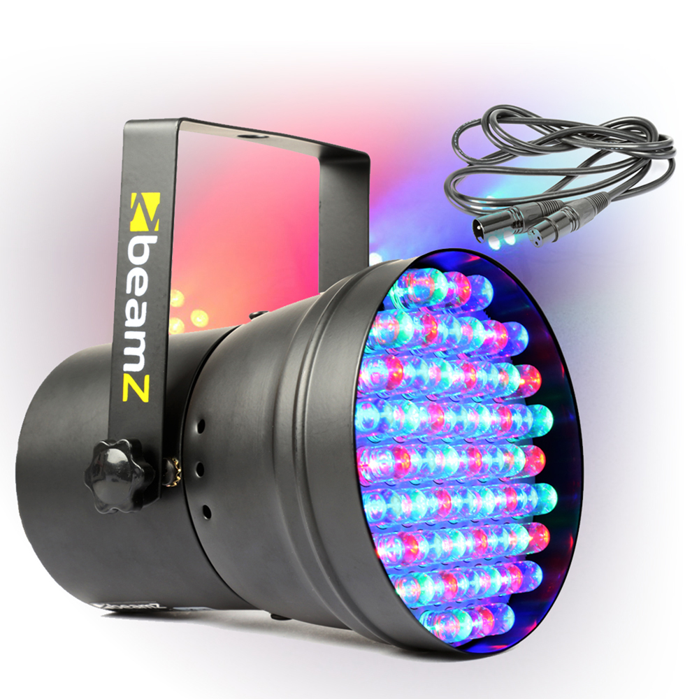 Floor Can Lights: Beamz RGB Colour LED Par Can Party DJ Light + Lighting