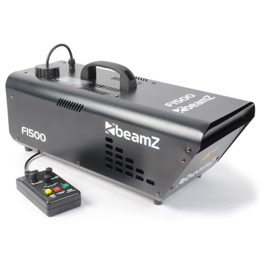 Beamz Pro 1500W DMX Timer Remote Misty Smoke Fog Effect DJ Party Haze Machine