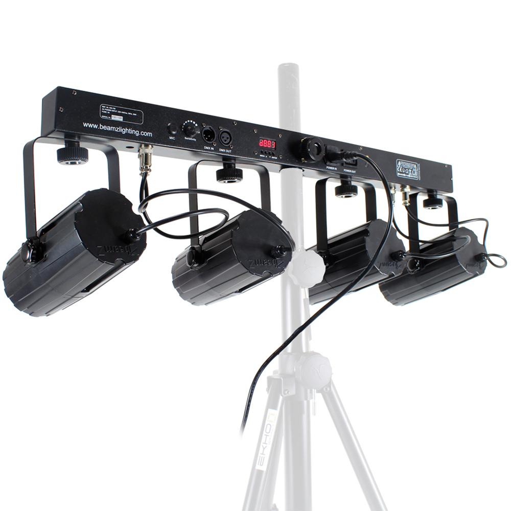 Studio Lighting Rail System: Complete 4-IN-1 DJ Light Rail Bar Moonflower Disco