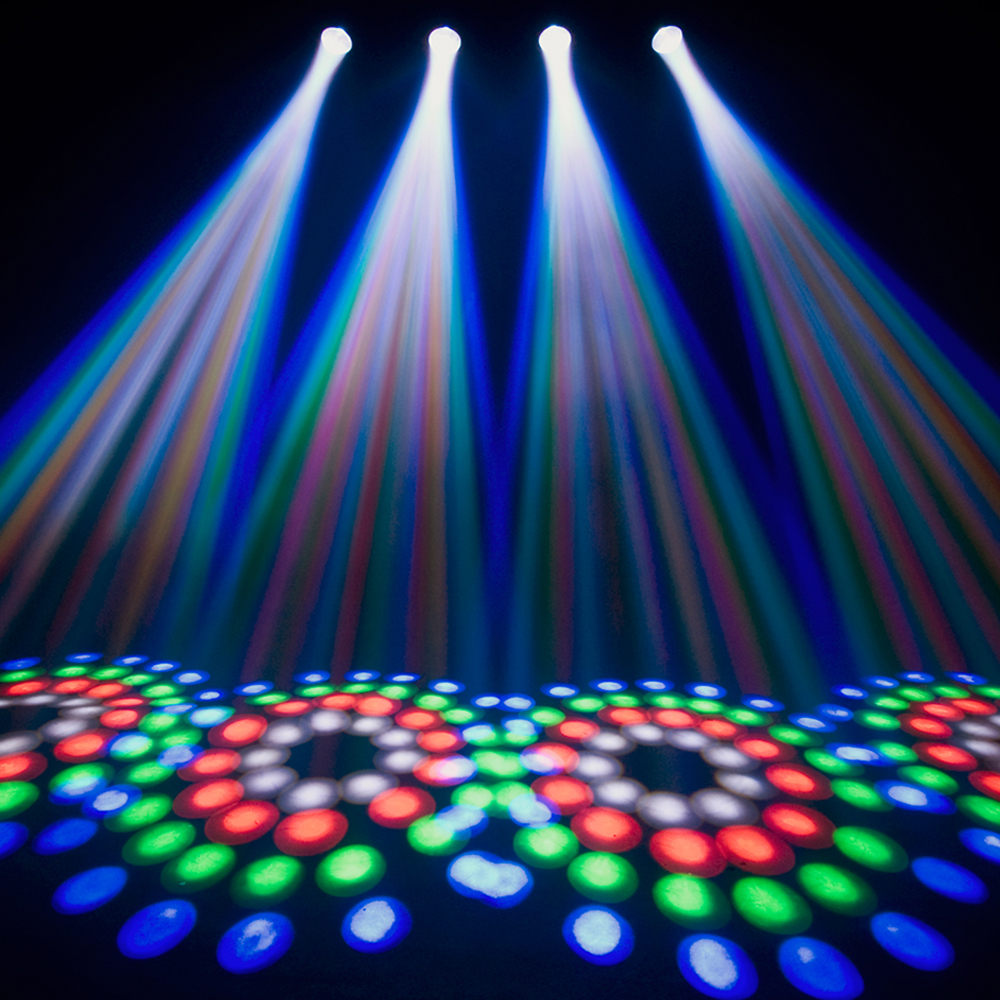 Beamz 4 Some 4x Led Moonflower Dmx Light Rail Dj Party System Stand Mountable