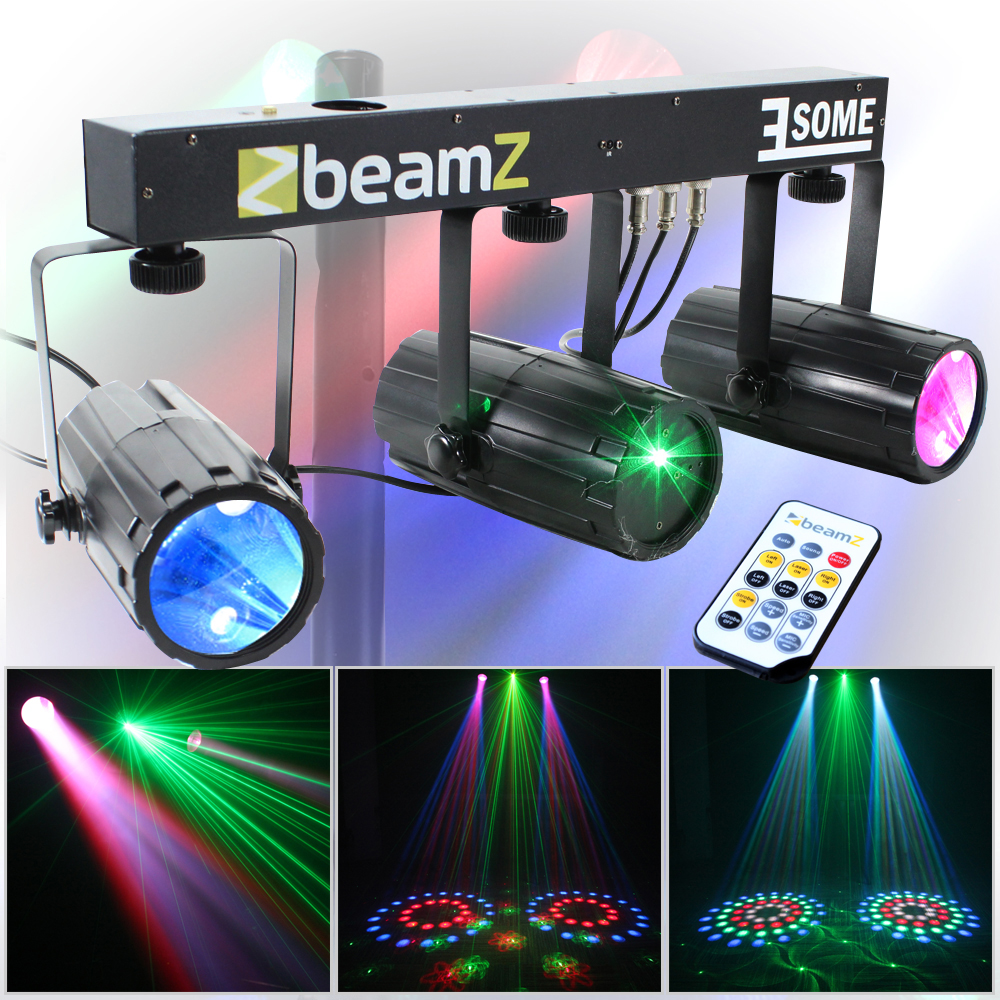 2x beamz bright scatter effect led disco lighting rigs. Black Bedroom Furniture Sets. Home Design Ideas
