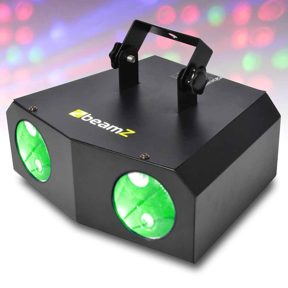 2x beamz 2 lamp nomia colour led disco dj lights lighting package ebay. Black Bedroom Furniture Sets. Home Design Ideas