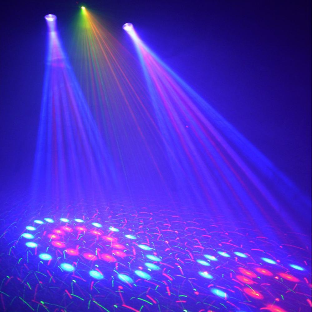 DJ LED Moonflower Effect Light Red Green Laser Beamz Disco Party Lighti