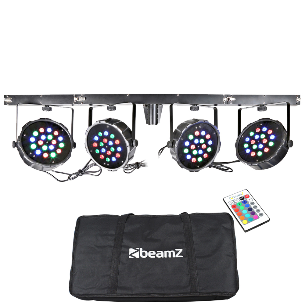 BeamZ PARBAR 4-Way Wash Kit 18x 1W RGB LEDs DMX Stage Lighting