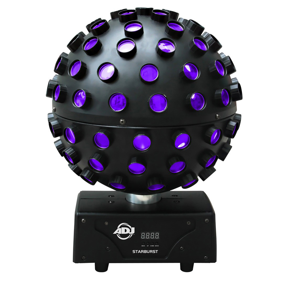 ADJ Starburst 360 Rotating Mirror Ball HEX RGBWYP LED Light