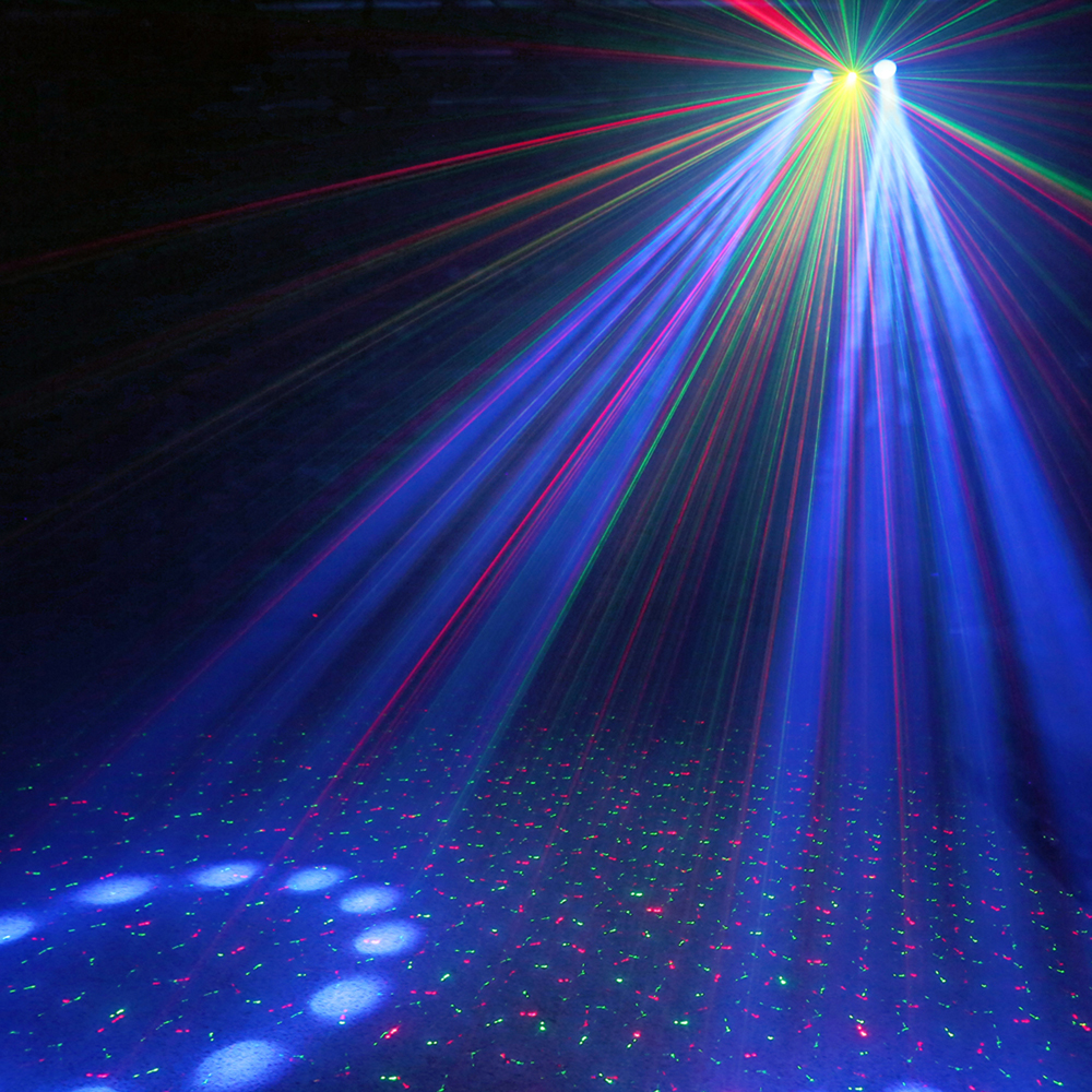 3 In 1 Effects Dual Lense Led Mobile Dj Disco Laser