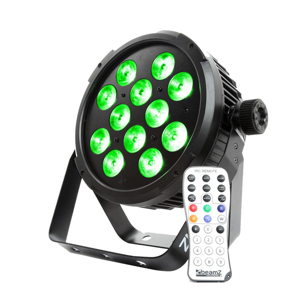 Quad LED Flat PAR Wash Uplighter Colour 12x6W Theatre Production Lighting|BT310