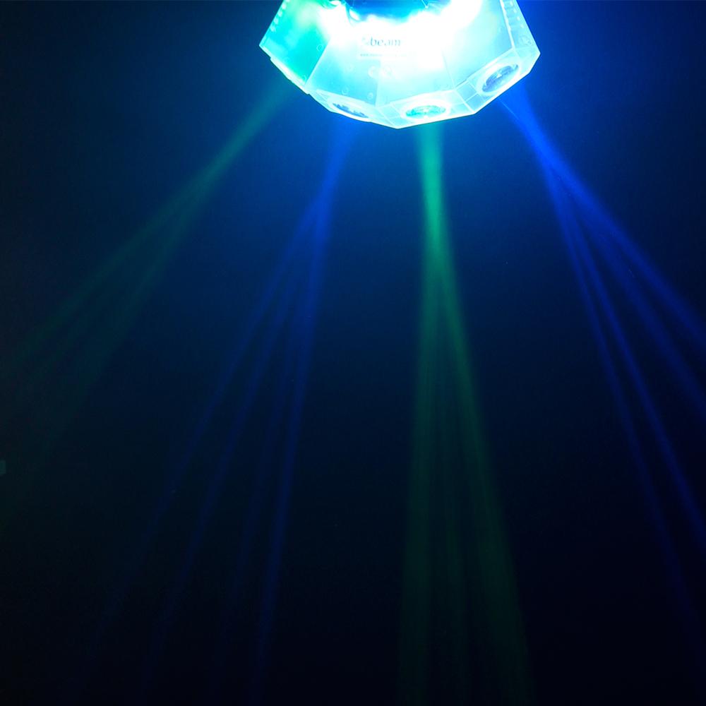 Flashing Disco Light Mini 4 Head Moon Clear Flower Rgba
