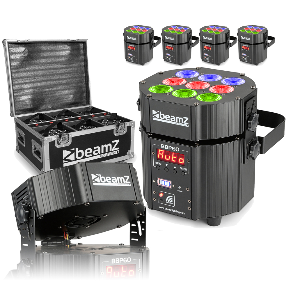 BeamZ BBP60 6 Piece LED Uplighter Set