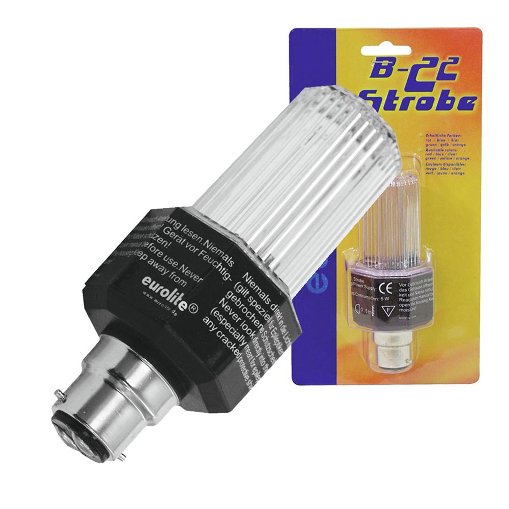 Eurolite White Strobe Light Bulb with B-22 Base