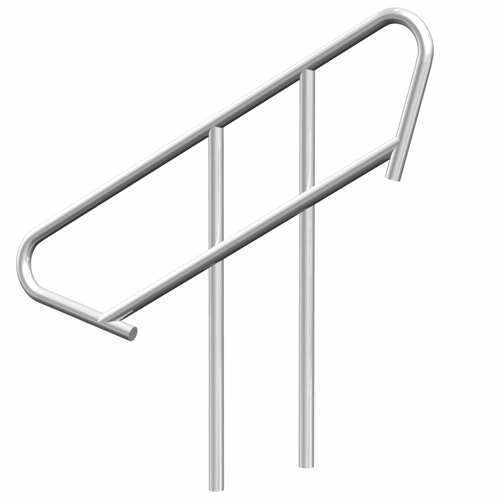 Lightweight aluminium portable stage staircase handrail