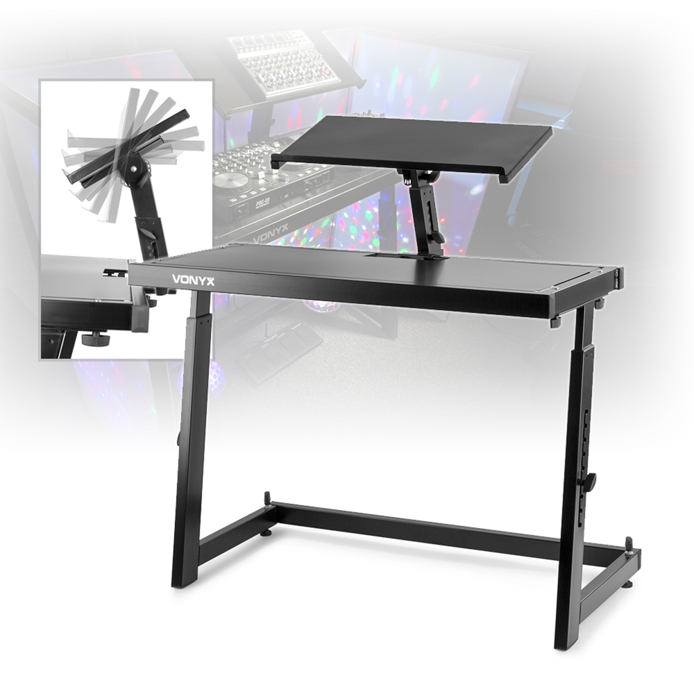 dj mixing console table stand w vonyx foldable lighting screen 4 panel fa ade ebay. Black Bedroom Furniture Sets. Home Design Ideas
