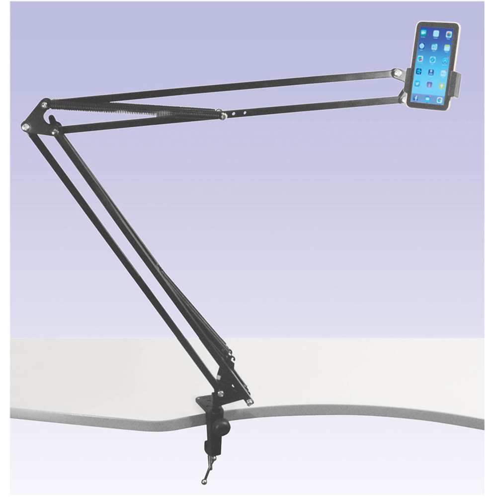 NJS NJS068F Telescopic Mobile/Tablet Stand with G Clamp Mount