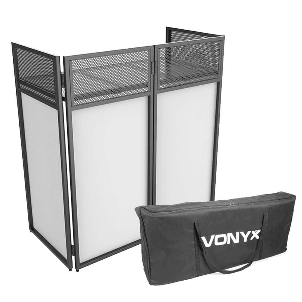 Vonyx DB4 Pro Foldable DJ Booth Stand with Case