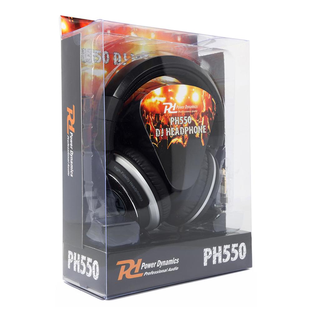 DJ Headphones PH550 Extreme Extra Bass Stereo Headband with Adaptor & Pouch Hifi