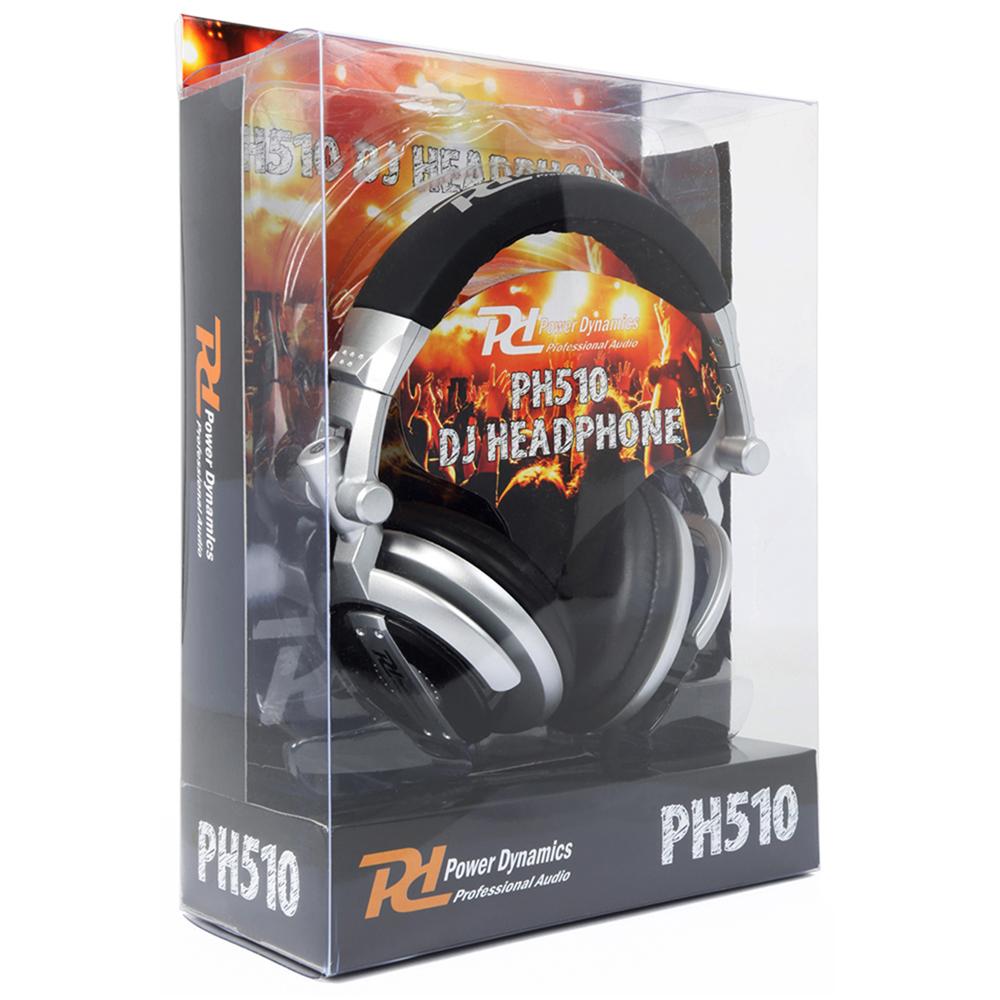 DJ Headphones PH510 Silver Extra Bass Stereo Headband with Adaptor & Pouch Hifi