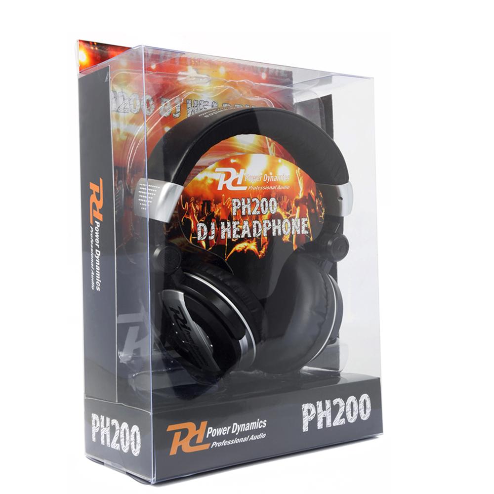 DJ Headphones PH200 Silver Extra Bass Stereo Headband Studio Monitor Hifi Cans