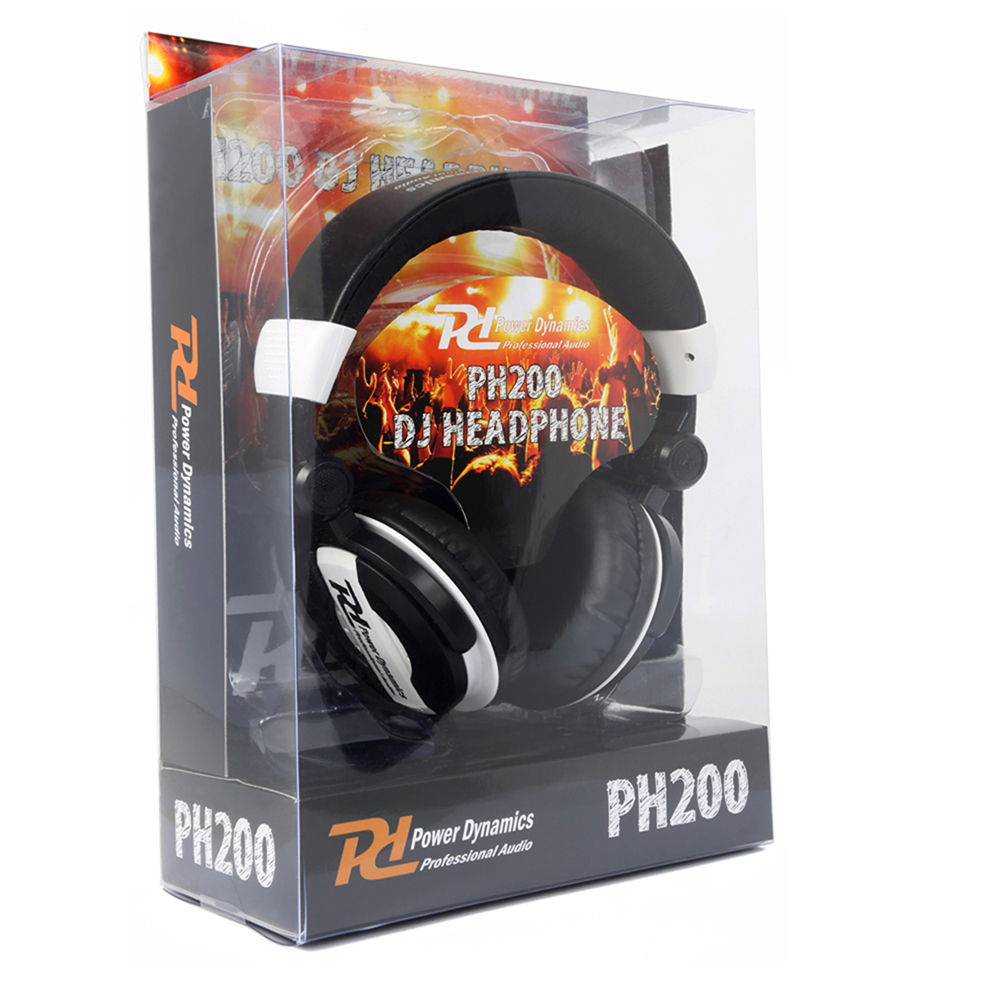 DJ Headphones PH200 White Extra Bass Stereo Headband Studio Monitor Hifi Cans