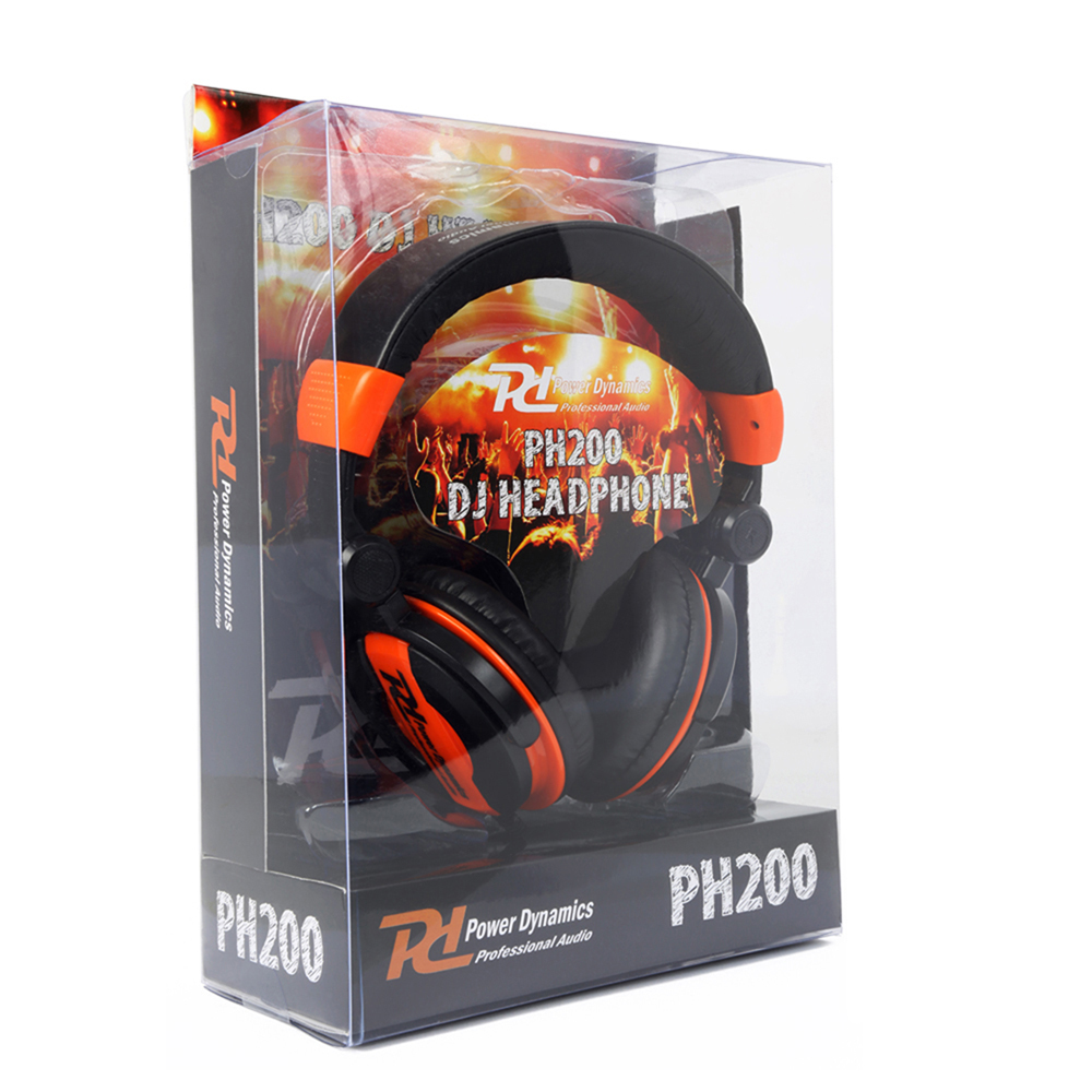 DJ Headphones PH200 Orange Extra Bass Stereo Headband Studio Monitor Hifi Cans