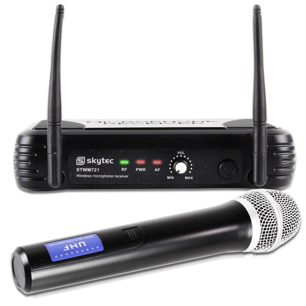 Skytec Single Channel UHF Wireless Microphone System