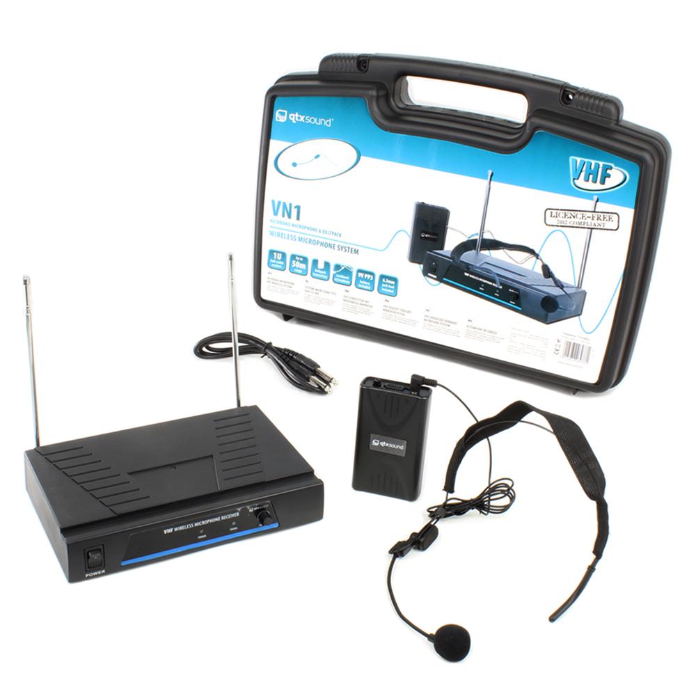 QTX Sound Headband VHF Wireless Microphone System