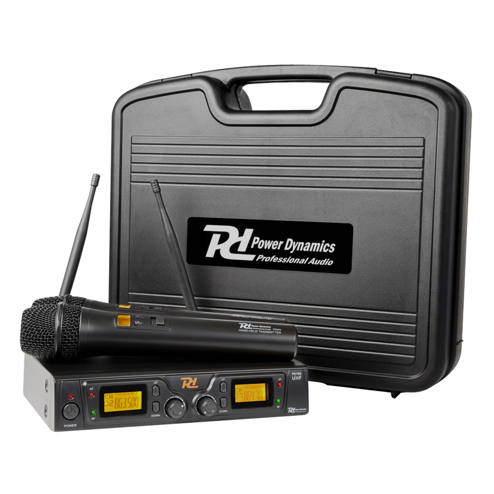 Power Dynamics PD782 2x8 Channel UHF Microphone System