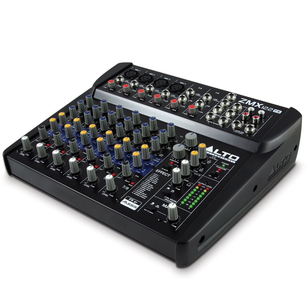 Alto ZMX122FX 8 Channel Compact PA Mixer with Effects