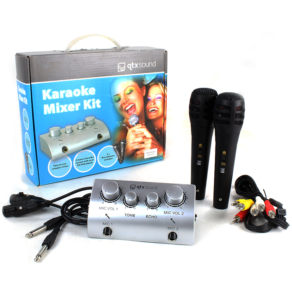 Skytec Karaoke Mixer Microphone Kit