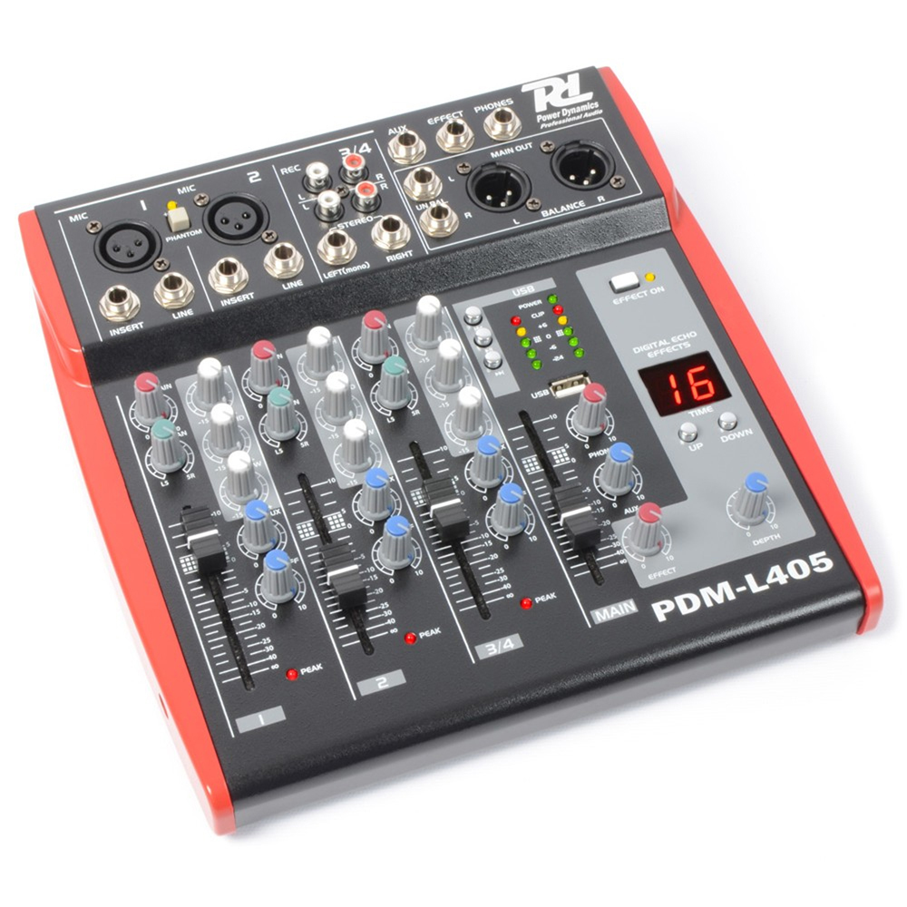 power dynamics 4 channel pa mixer with effects ebay