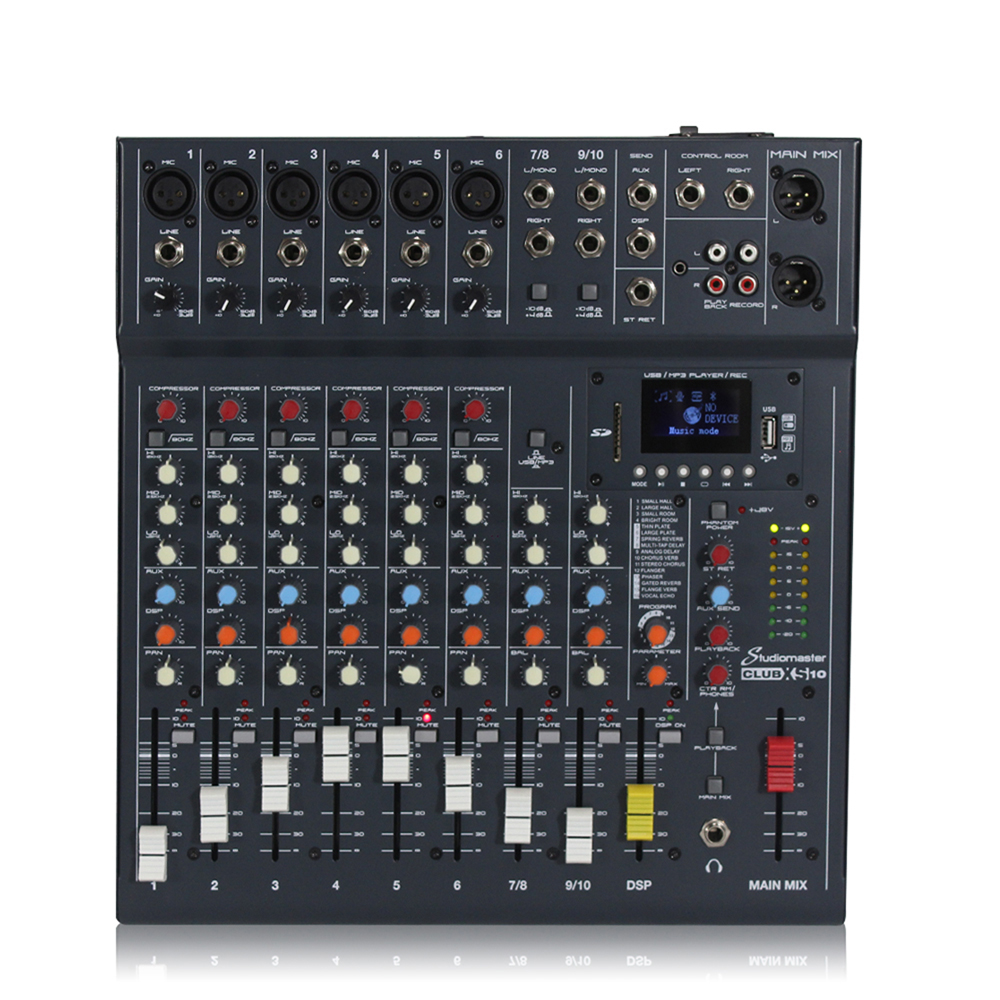 Studiomaster CLUB XS 10 Channel Mixing Console