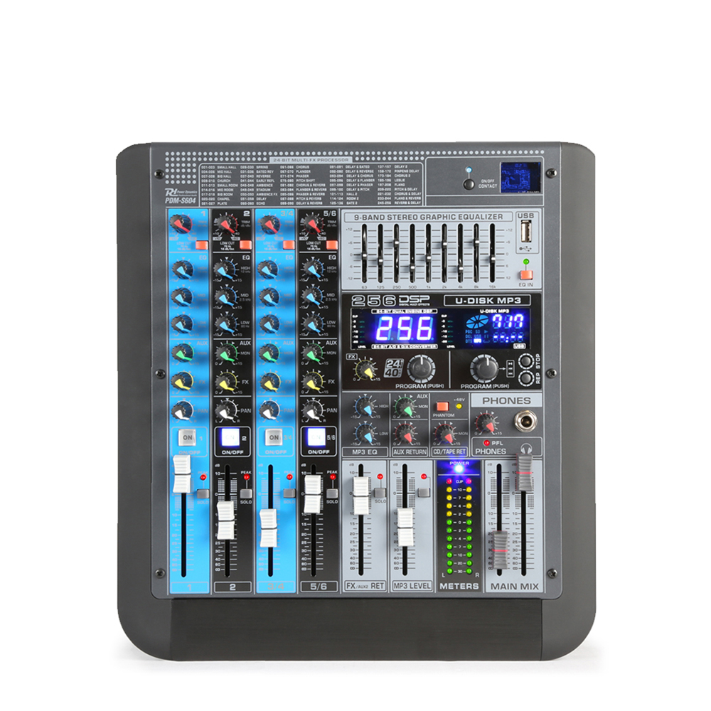 Power Dynamics PDM-S604 6-Channel Professional Analog Mixer