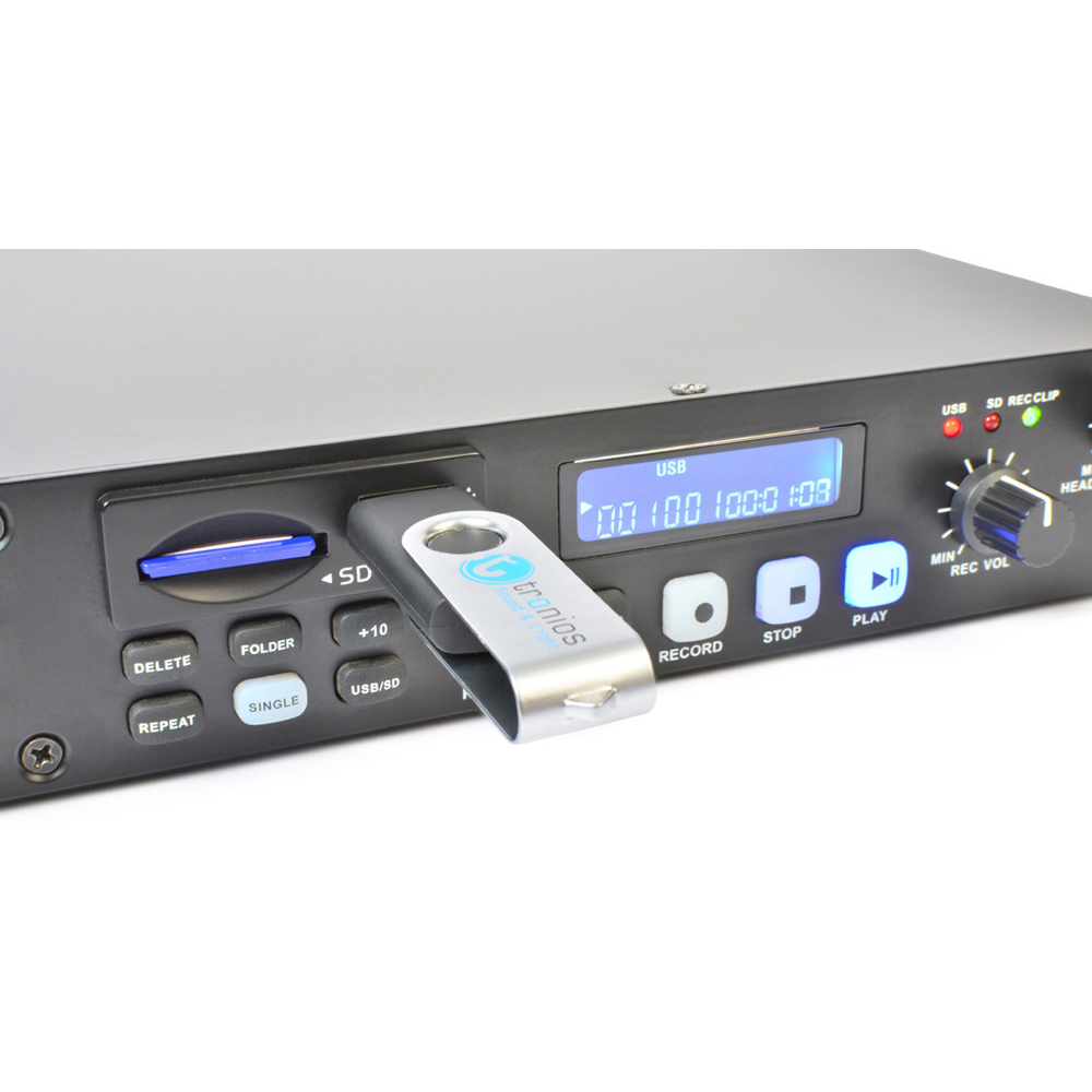 power dynamics rackmount cd player with mp3 usb record ebay. Black Bedroom Furniture Sets. Home Design Ideas