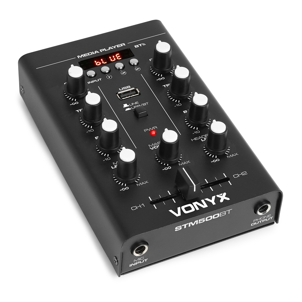 Vonyx STM500BT 2-Channel Mixer USB/MP3/BT