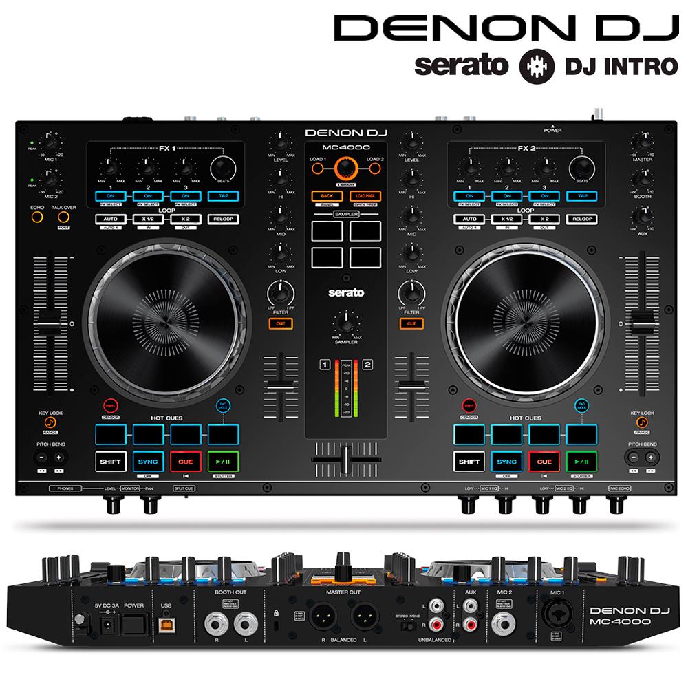 denon mc4000 digital dj 2 ch controller pc mac usb mixer decks inc serato intro ebay. Black Bedroom Furniture Sets. Home Design Ideas