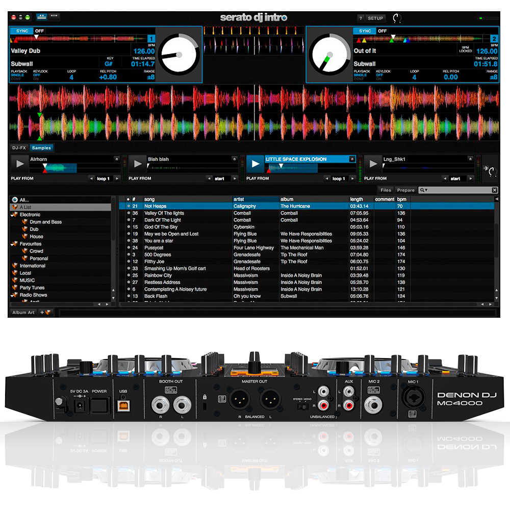 denon mc4000 digital dj mixer controller for serato 5056141320007 ebay. Black Bedroom Furniture Sets. Home Design Ideas