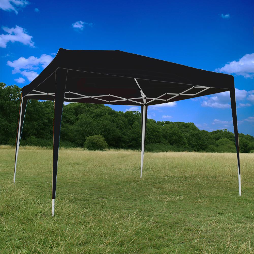 Heavy Duty Awning : Canoup black heavy duty pop up gazebo canopy party