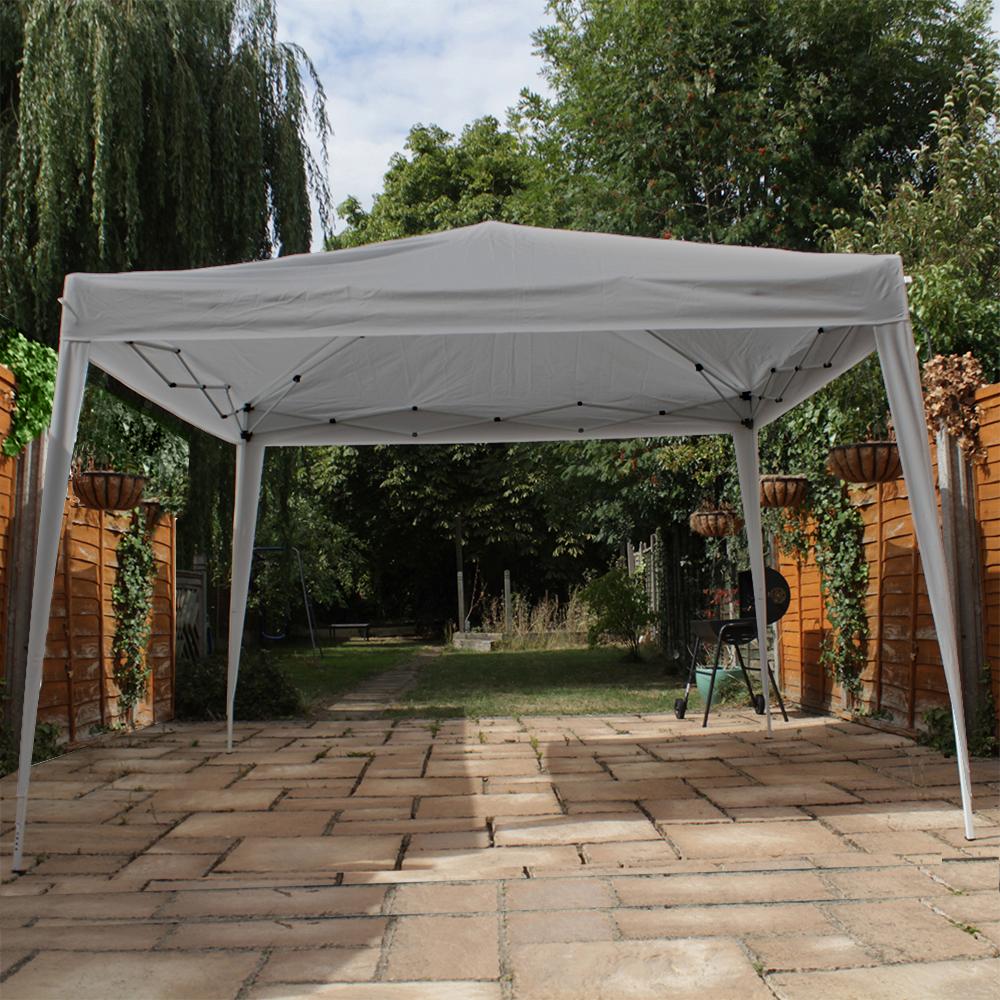 Canoup 3x3 Grey Heavy Duty Pop Up Gazebo Canopy Garden