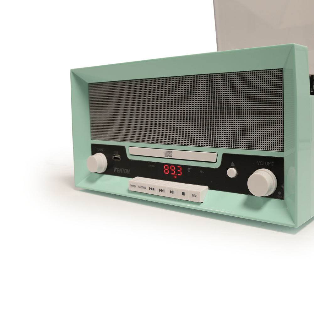 Retro 60 S Vinyl Lp Record Player Turntable Bluetooth Cd