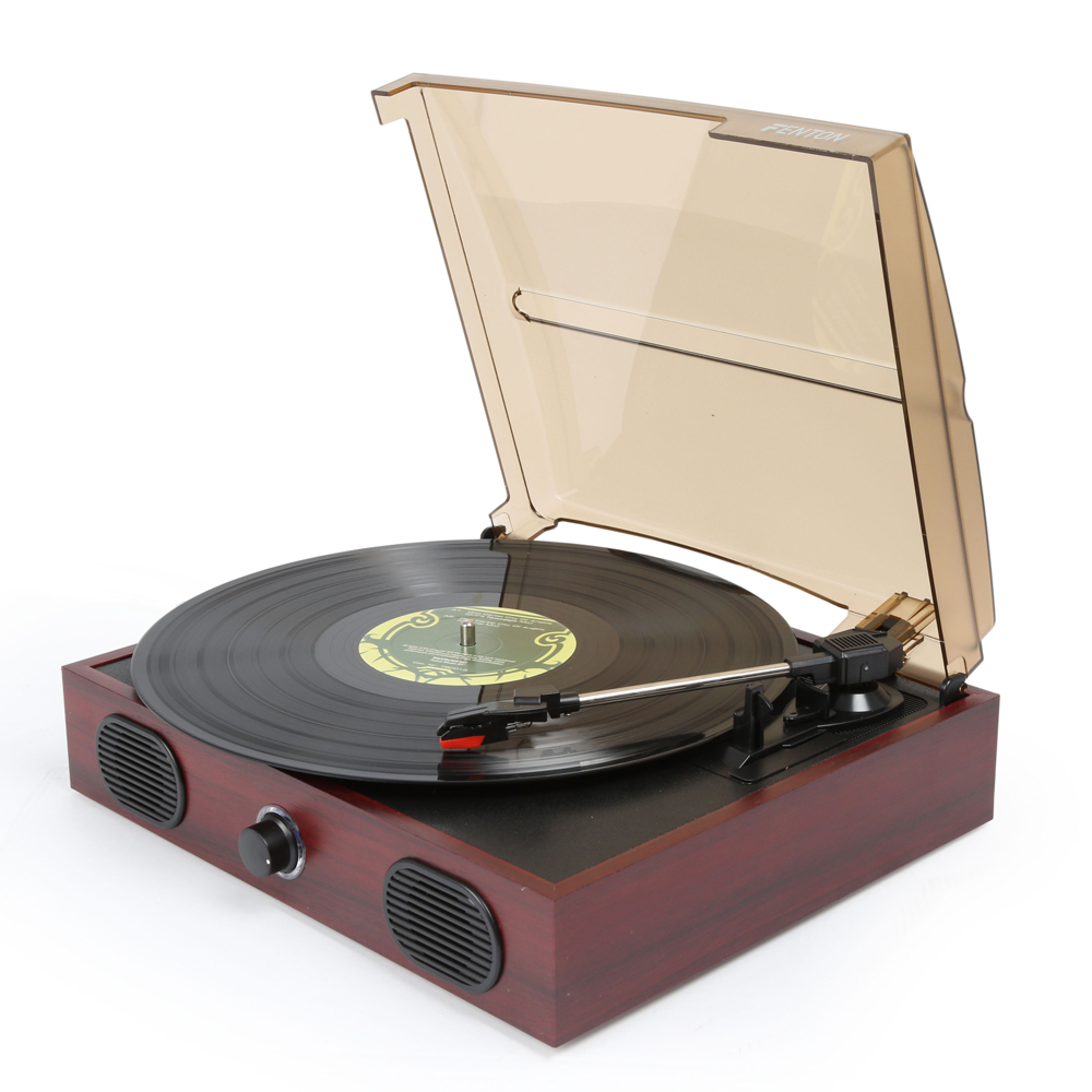 Wooden Retro 3 Speed Vinyl Record Player Turntable Built