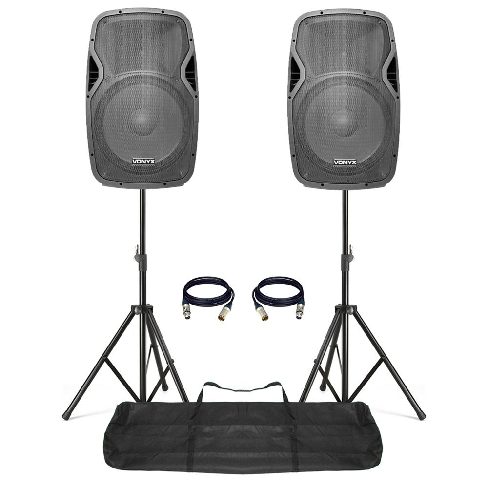 Active DJ Speakers with Stands