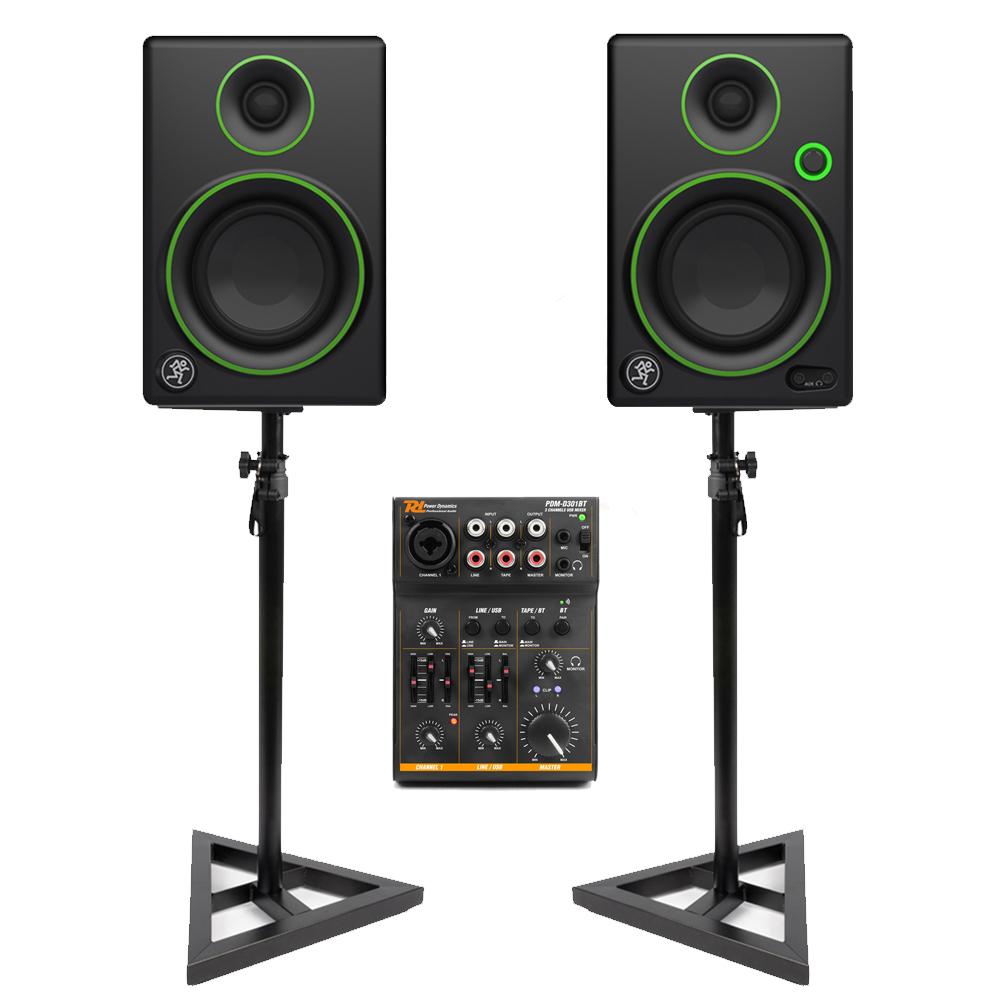 Mackie Cr3 3 Quot Powered Studio Dj Monitors Speakers Usb Bluetooth Mixer And Stand 5055880196287 Ebay