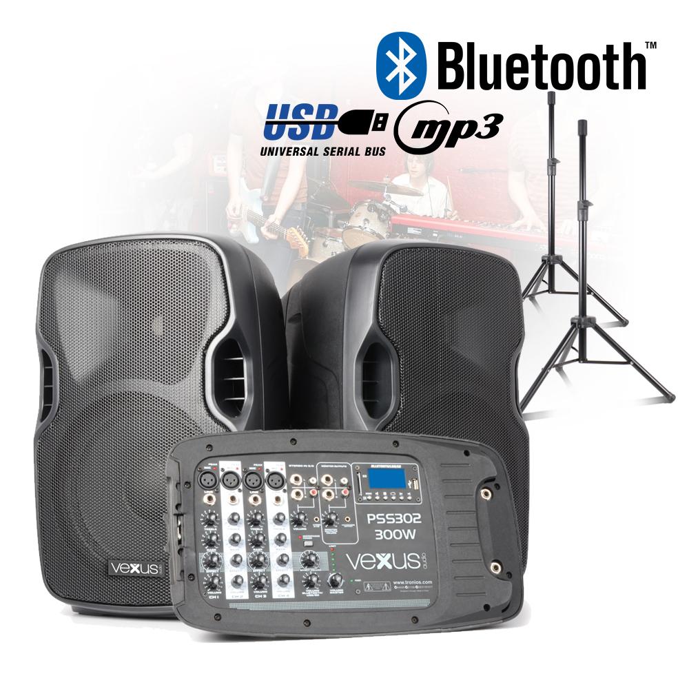 Vexus Pss302 Portable 10 Quot Active Speaker Stands Pack