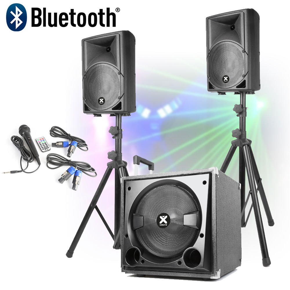 active powered pa speaker sound system for mobile dj disco