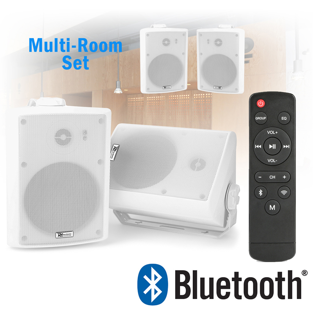 Details about Wireless WiFi Bluetooth Active Speakers Airplay Android  Multi-Room 50w (2 Sets)
