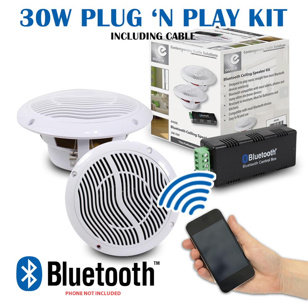 Details About Kitchen Bathroom Wetroom Bluetooth Wireless Amplifier 2 X 5 Ceiling Speakers