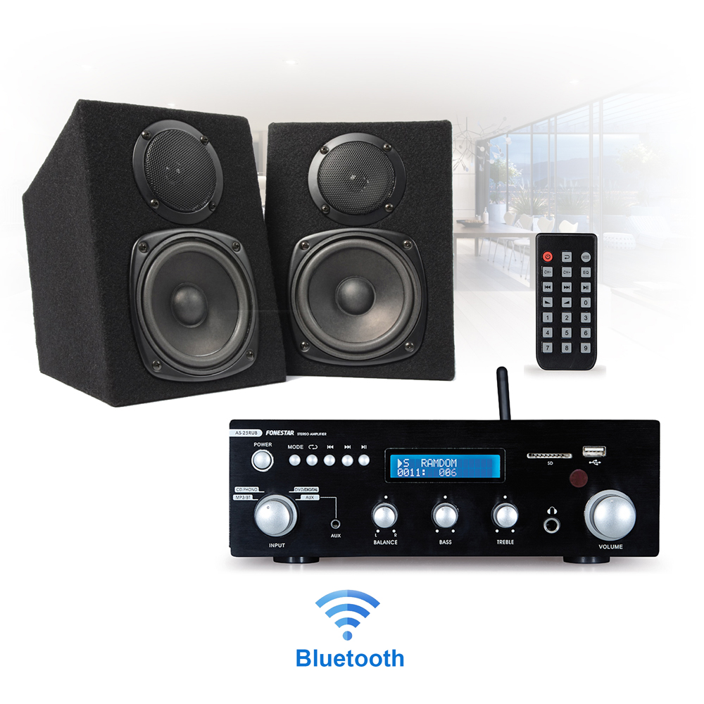 Image Is Loading Bluetooth Home HiFi Stereo Bookshelf Speaker And Amplifier