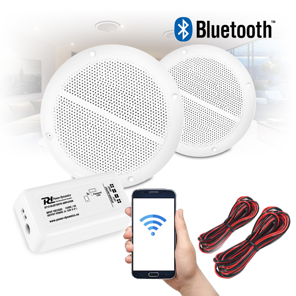Details About Bathroom Kitchen Ceiling Speakers And Wireless Bluetooth Amplifier System