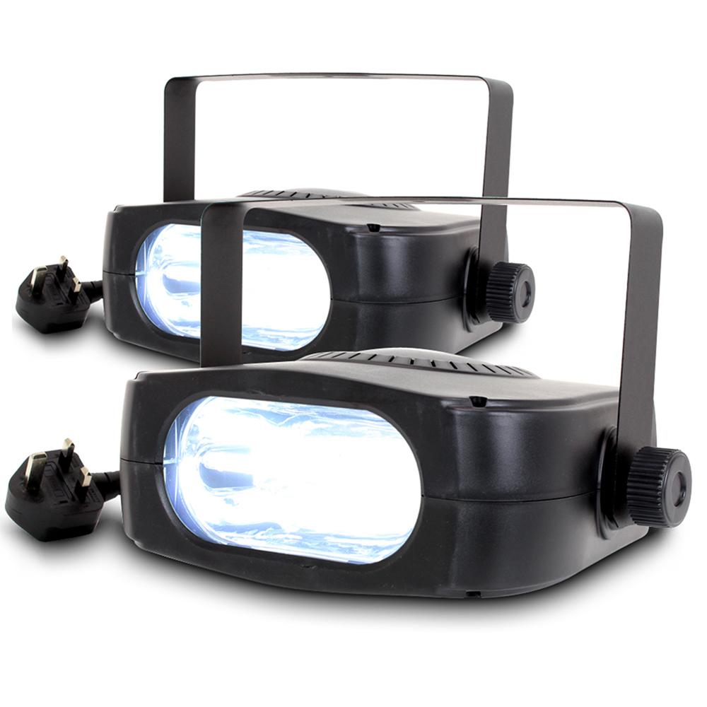 2x Beamz Stroboscope Strobe Lights 300W