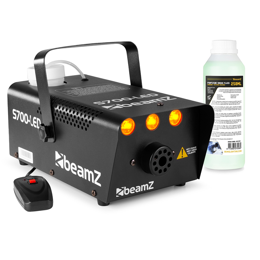 BeamZ Smoke Machine with Flame Effect with 250ml Fluid